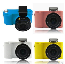 Soft Silicone Rubber Camera Protective Cover Case Skin For Samsung NX3000 20-50mm Black White Pink Blue 6 Colors