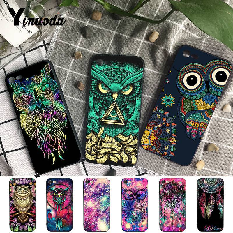 Yinuoda Owl and Dream Catcher Splendid Phone Accessories Case for iPhone 7 6 X 8 6s Plus 5S SE XR XS MAX11 11pro 11promax
