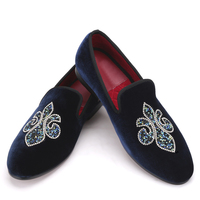 Velvet hot drilling fashion men's shoes European and American wedding dress men shoes