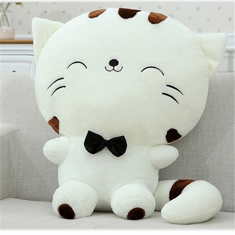 20CM Kids Cute Cat with Bow Plush Dolls Toys Gift Stuffed Soft Doll Cushion Sofa Pillow Gifts Xmas Gift Party Decor ocean creatures plush crab cushion doll cute stuffed simulative toys for baby kids birthdays gifts 27 23cm 10 5 9