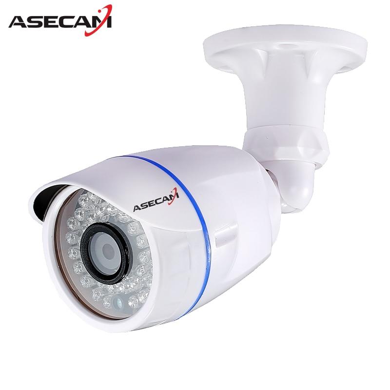 ASECAM HD 1080P IP Camera POE Hi3516C Chip White Bullet Outdoor Waterproof Security Network Onvif H.265 2MP Surveillance IE P2P hd 1080p ip camera poe hi3516c new infrared metal bullet outdoor waterproof security network onvif h 264 surveillance ie p2p