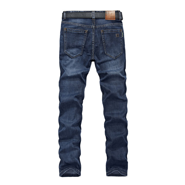 Spring 30~42 Military Denim Jeans Breathable Clothing Blue Jeans Elastic Men's Pants Cargo Cotton Men's Casual Jeans Pockets