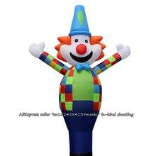 3D многоцветный надувной клоун танцор небо танцор надувная трубка клоун танец кукольный ветер надувная реклама надувной для 18 ''воздуходувка