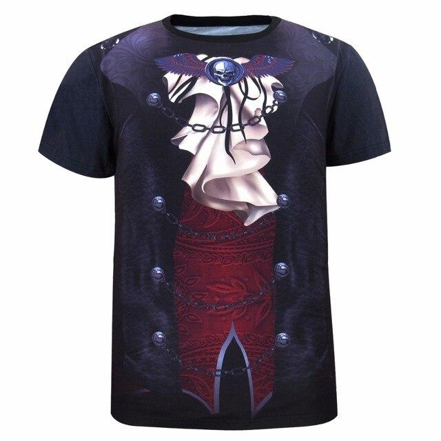 Men Vampire 3D T Shirt Punk Rock Tee Adult Novelty Party T-shirts Cosplay Costume
