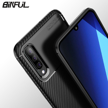 For Samsung Galaxy A50 A30 Case Cover Carbon Fiber Soft Silicone Back for A10 A20 A40 A70 Phone Coque