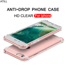 Anti-fall Transparent TPU Silicone Case For iPhone 7 6 6S 8 Plus 5S X XS MAX XR 5 Case iphone 7 x 8 6s plus xs max luxury covers