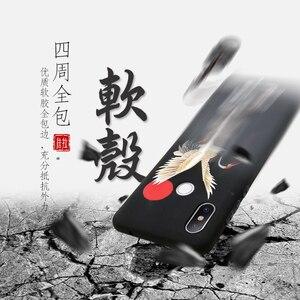 Image 3 - Great Emboss Phone case For XIAOMI MI 9 PRO MI9 MI9SE MI9Lite CC9 cover Kanagawa Waves Carp Cranes 3D Giant relief case