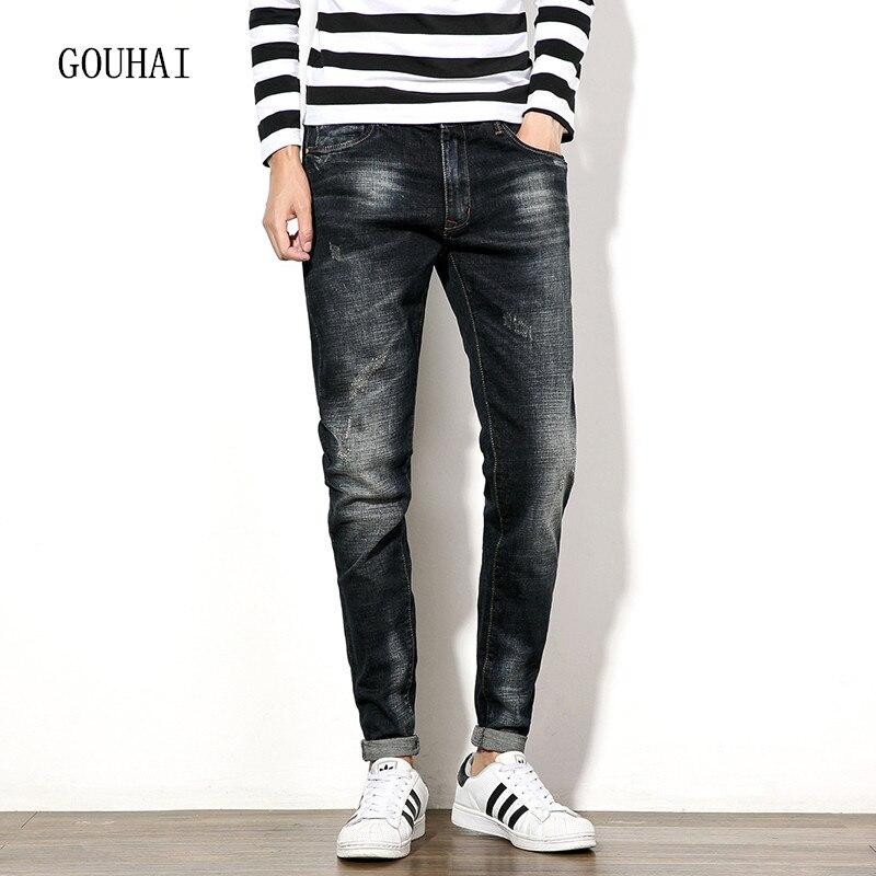 2016 Men Jeans Plus Size Mens Denim Jean Autumn Winter Cotton Pants Men Denim Trousers Classical Slim Jeans Men Pencil Pant