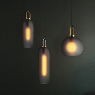 Post Modern Ins Light Luxury Pendant Lights Restaurant Lamp Living Room Bar Dining Gl Ball Single Head Hanging Lamps