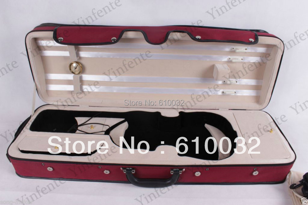 dark red New 4/4 Violin case Oxford Water Proof #21