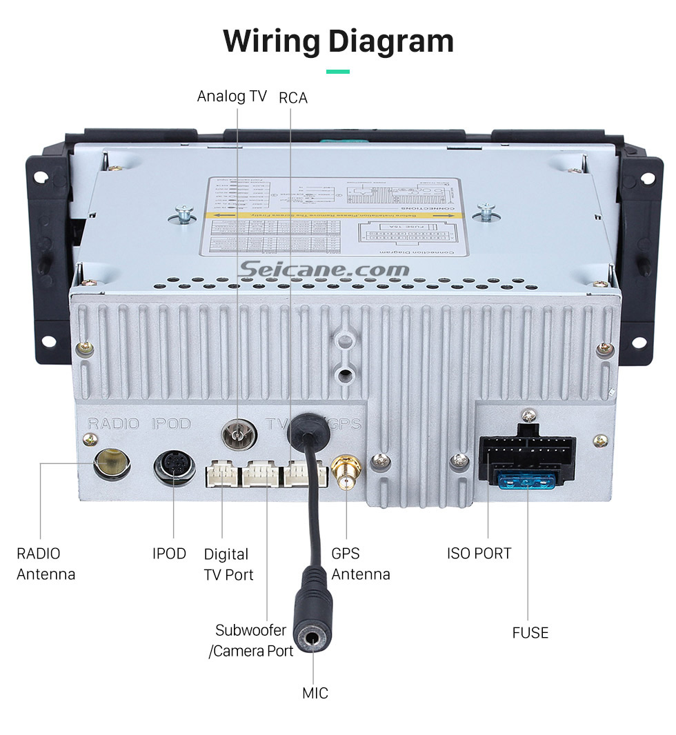 hight resolution of seicane gps radio dvd player head unit for 2002 2007 dodge dakota 2007 dodge ram gps wiring diagram