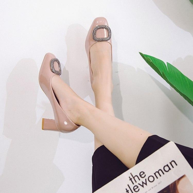 Haute Femme Femmes Talons Pompes Fond 2018 À 3 Dames Bout Designer Hiver Rond Chunky 2 Chaussures Bas Argent Épais Escarpins 1 awqpd7pWn