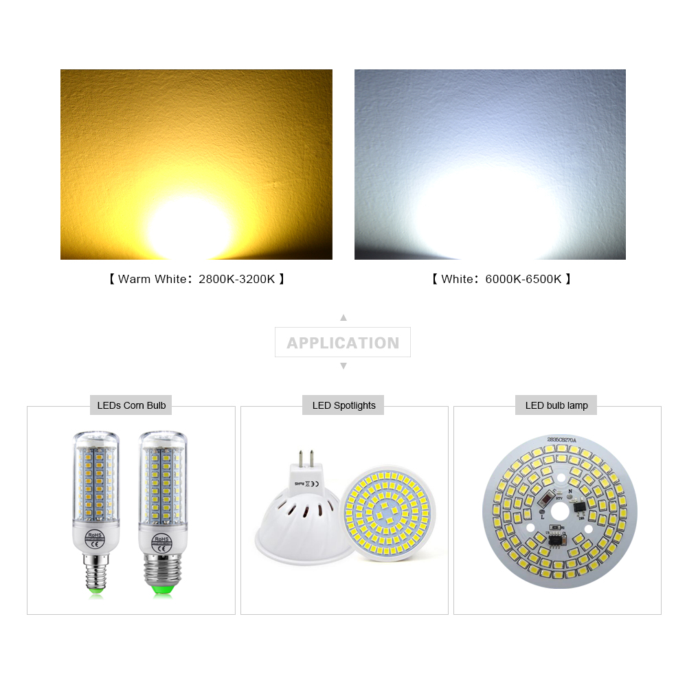 100Pcs/lot 100% Original Epistar High Lumen 2835 SMD LED lamp Chip ...