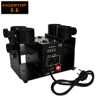 Gigertop TP T181A 2 Economy Model 4 Shot Confetti Cannon Compacted Size DMX 4 Channels disco party launcher for wedding stage