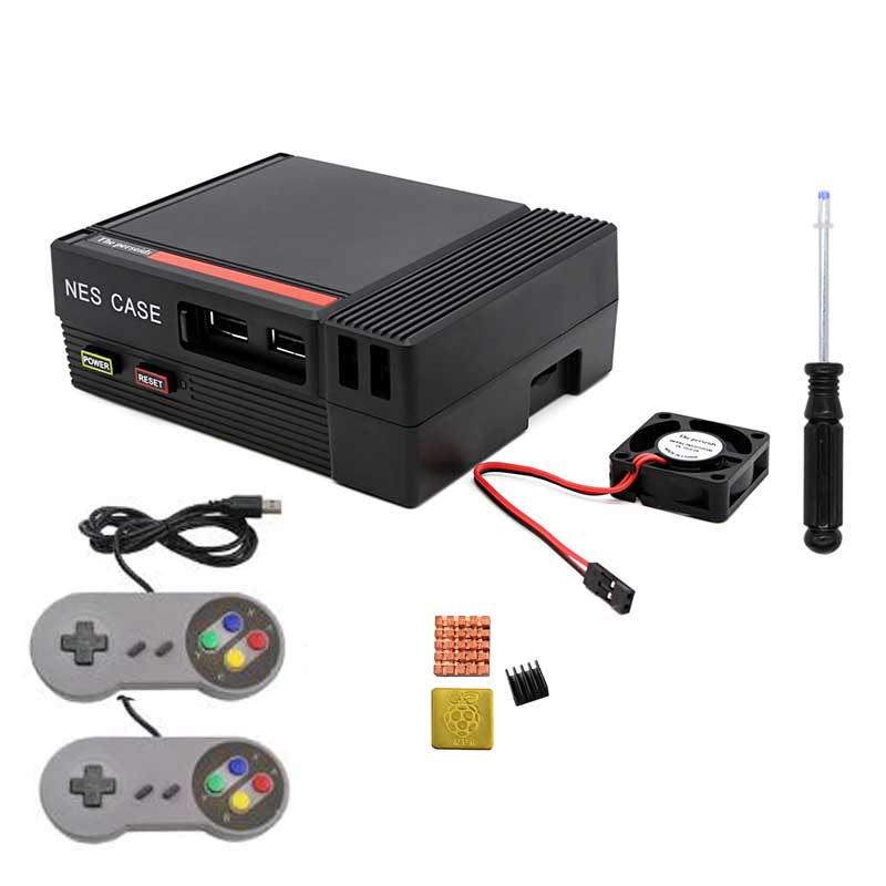 Mini NES CASE Retroflag Case With Cooling Fan Designed+Gamepad For Raspberry Pi 3 / 2 / B+ Free Shipping