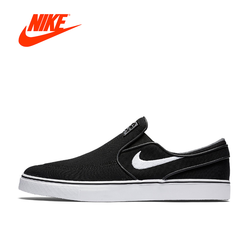 Original New Arrival NIKE Nike SB Zoom Stefan Janoski Slip CNVS Men's Skateboarding Shoes sneakers punk style titanium steel hollow out ring for men