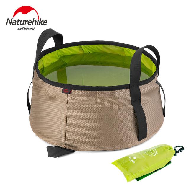 Naturehike 10L Portable Outdoor Round Folding Water Washbasin Camping Picnic Oxford Wash Bucket Bag Ultralight Wash Basin
