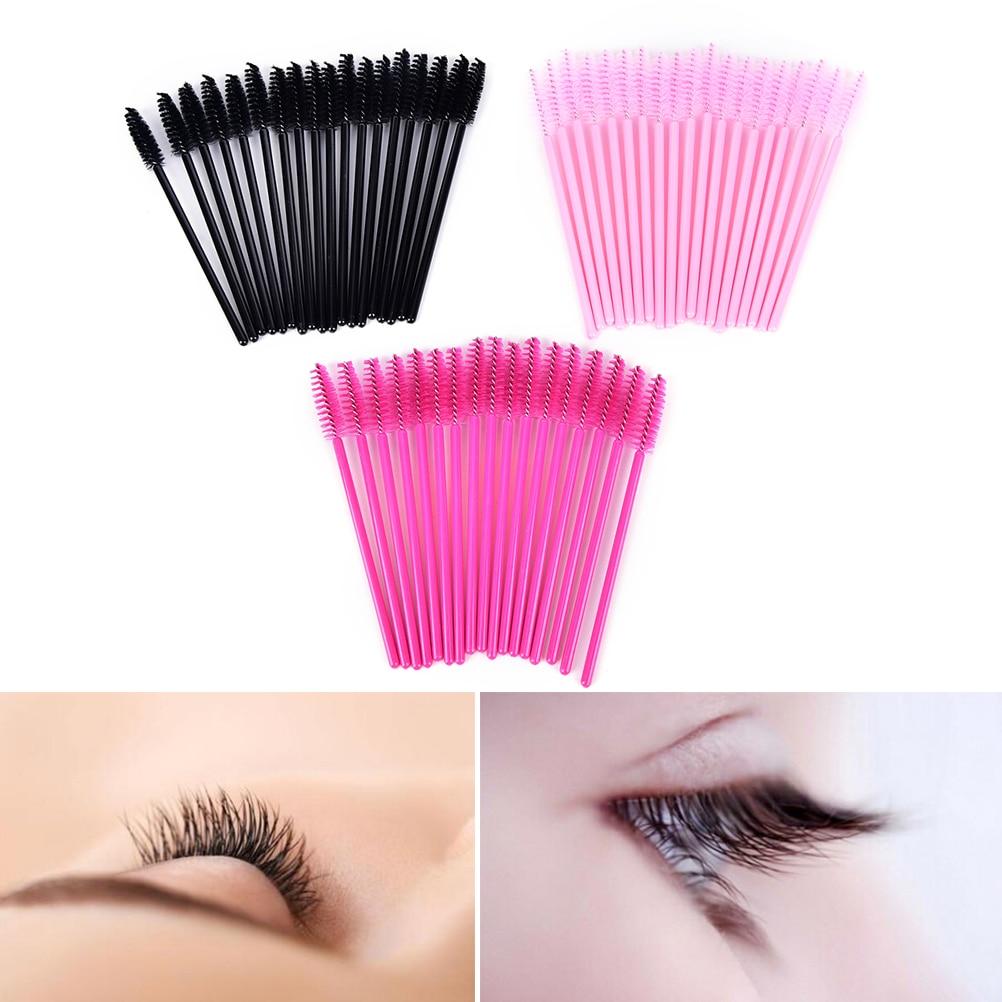 50Pcs Hot Sale Applicator Spoolers Makeup Brush Tool Cosmetic Eyelash Extension Disposable Mascara Wand 2