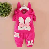 Conjunto de ropa para niños, niñas, Otoño, traje de algodón, conjuntos de bebé, conjuntos de niños, ropa de primavera con capucha de manga larga para niños