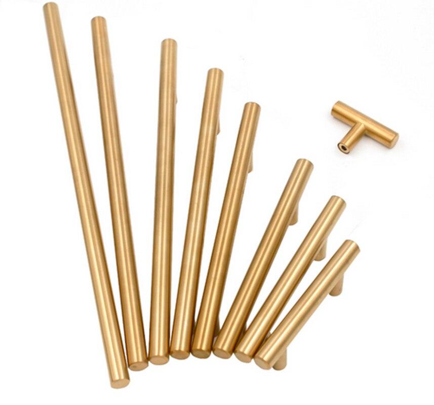 """Brass Kitchen Cabinet Handles: Goldenwarm Gold Cabinet Pulls Brass Drawer Pulls 2""""~10"""