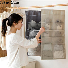 Simple wind double sided Oxford cloth hanging storage bag water laundry cabinet underwear socks bedroom wall hanging wardrobe все цены