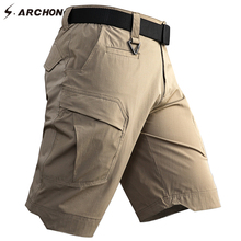 S.ARCHON Summer Cargo Shorts Men SWAT Army Combat Military T