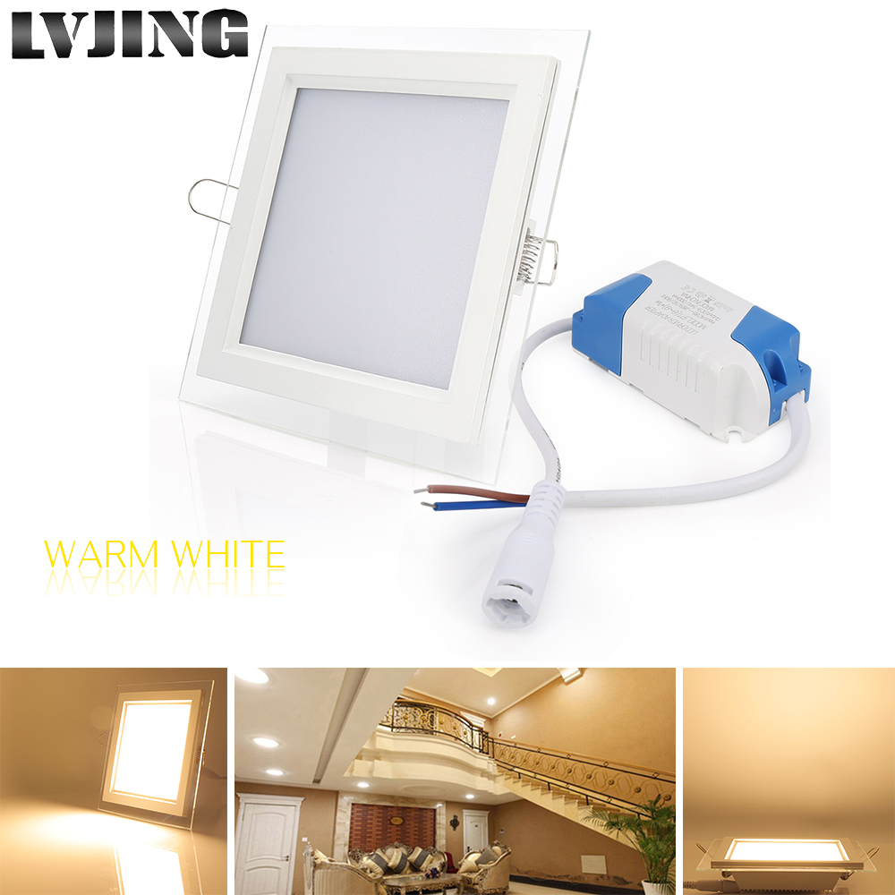 10w 15w 25w Glasses Cover Led Square Panel Recessed Wall