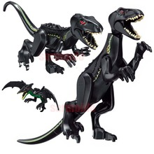 цены на Super Heroes Star Wars Dinosaur Jurassic World Park Tyrannosaurus Bricks Model Building Blocks Toys For Children  в интернет-магазинах