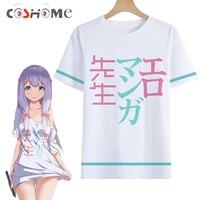 Cosworld New Anime Eromanga Sensei Cosplay Costume Ero Manga Sensei Sagiri Izumi Short Sleeve Print T