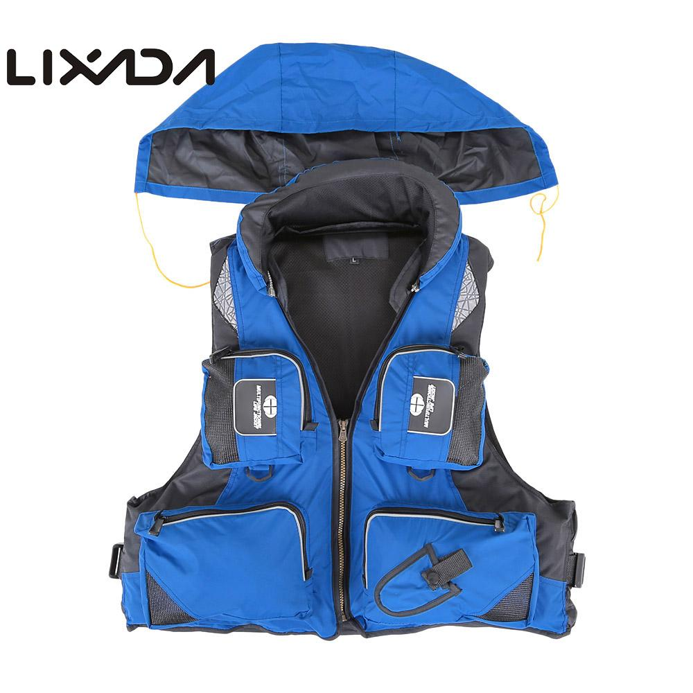 Lixada Fly Fishing Vest Polyester Outdoor Swimming Life Vest Backpack Carp Pesca Survival Safety Jacket Fishing