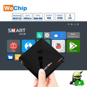 Image 1 - A5X MAX Smart Android 9.0 TV Box 4K HD TV Box RK3318 Quad Core Media Player Support 2.4G WiFi Wireless 100M LAN Set top Box