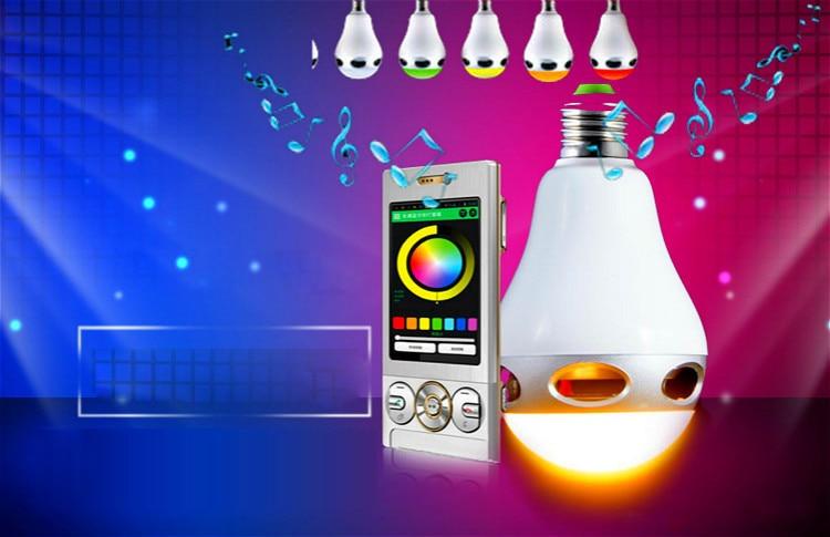 Draadloze Muziek Knipperende gekleurde Lichten Smart Kleurrijke LED Bluetooth Speaker Hi Kwaliteit Verlichting Controle Tricolored Bollen - 6