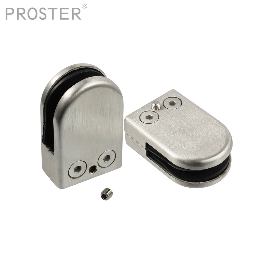 Stainless Steel Glass Clamp Clips Bracket Handrails Balustrades 8-10mm,4 Pcs