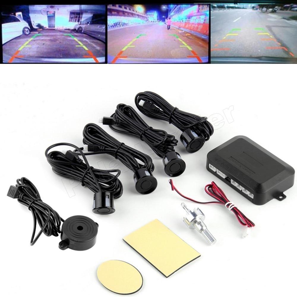 best selling 12V 44 colors for option 4 Sensors Buzzer Car Parking Sensor Reverse Backup Radar Sound Alert Indicator System