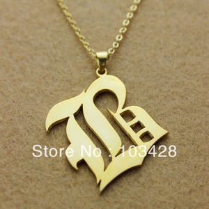 Image 3 - AILIN Personalized Necklace 925 Silver Letter Necklace Customized Old English Font Custom Nameplate Necklace Christmas Jewelry