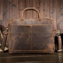 YISHEN Vintage Eredeti Bőr Férfi Táskák Kézitáskák Üzleti Férfi Messenger Táskák Laptop Táskák Alkalmi Férfi Crossbody Táskák 1019