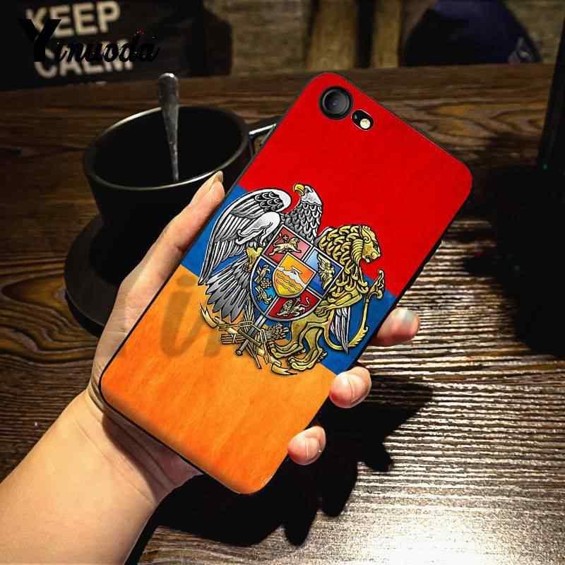 Yinuoda Per iphone 7 6 X Caso Armenia Russia Bandiera Elegante Cassa Del Telefono per iPhone 7X6 6S 8 più di 5 5S SE 5C Cassa Del Telefono Mobile