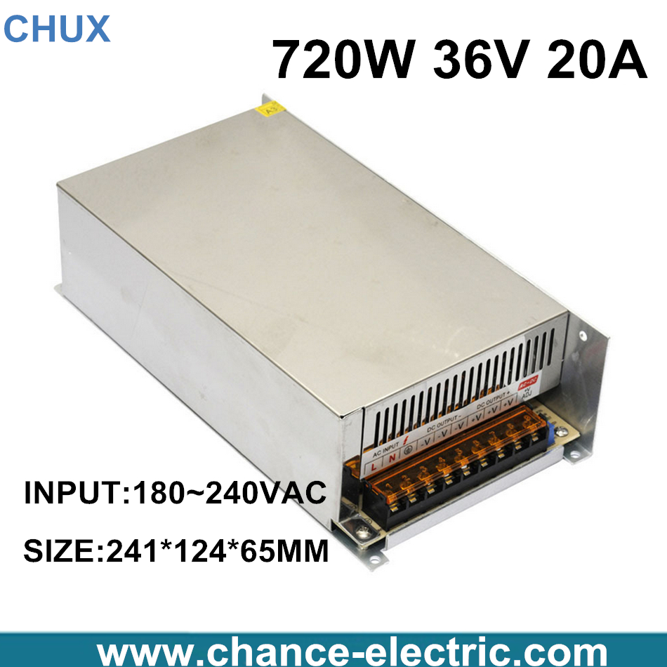 S-720-36 CE approved high quality SMPS Led switching power supply 36V 20A 720W 110/220Vac to dc 36v made in China  цены