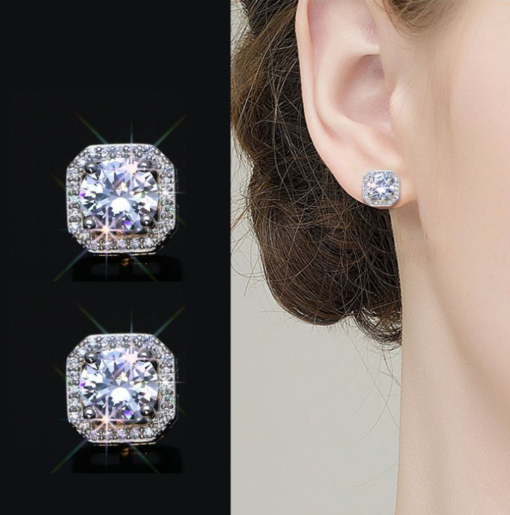2019 New Sale fashion jewelry Water droplets wild carved female crystal from Swarovski high-end wedding jewelry earrings