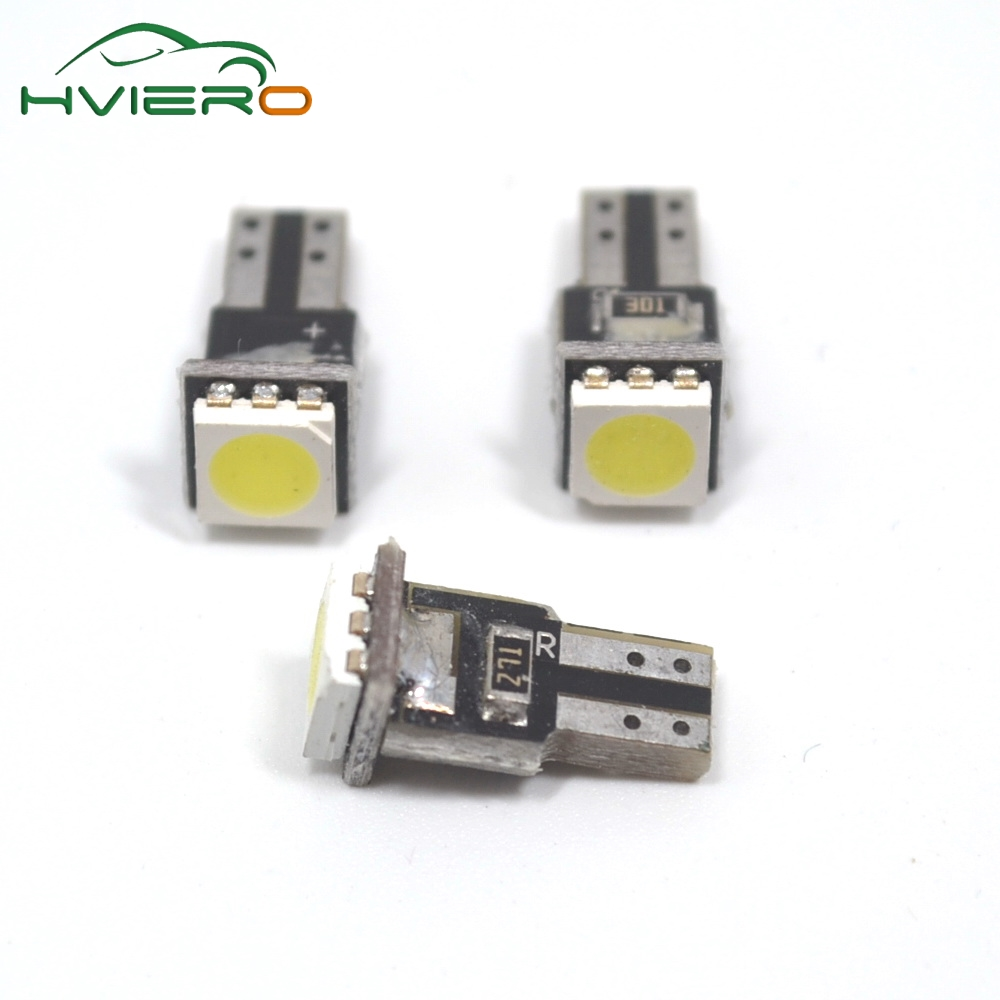 White 10Pcs T5 5050 1smd Instrument Lights Dashboard Auto Gauge Vehicle 1 Smd Indicator Side Tail Bulb Dc 12v Lamp