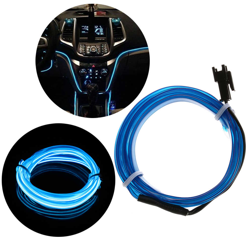 Estilo para EL coche, borde de costura, Cable de cuerda de Flash, Cable de tubo LED, tira Flexible de luces de neón, guirnalda de luces para decoración del coche 2019