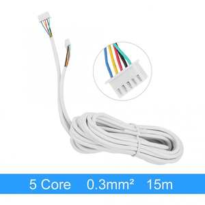5-Core  Round Flexible Copper Cable For Video Door Phone System 15m