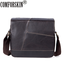 COMFORSKIN Guaranteed 100% Luxurious Genuine Leather Patchwork Men Cross-body Bags 2018 Hot Vintage Casual Messenger