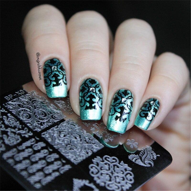 Born Pretty Nail Art Stamp Template Baroque Design Floral Pretty