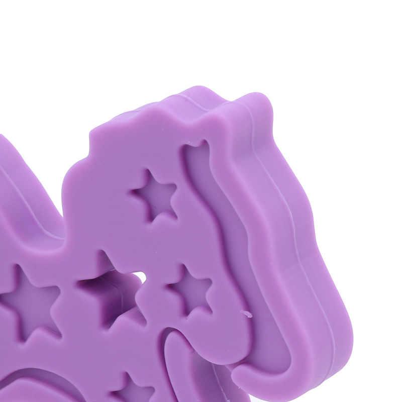1 قطعة المهر الحصان على شكل سيليكون عضاضة BPA شحن الرضع التسنين مضغ الخرز الغذاء الصف الطفل DIY الحلمة ملحقات السلسلة