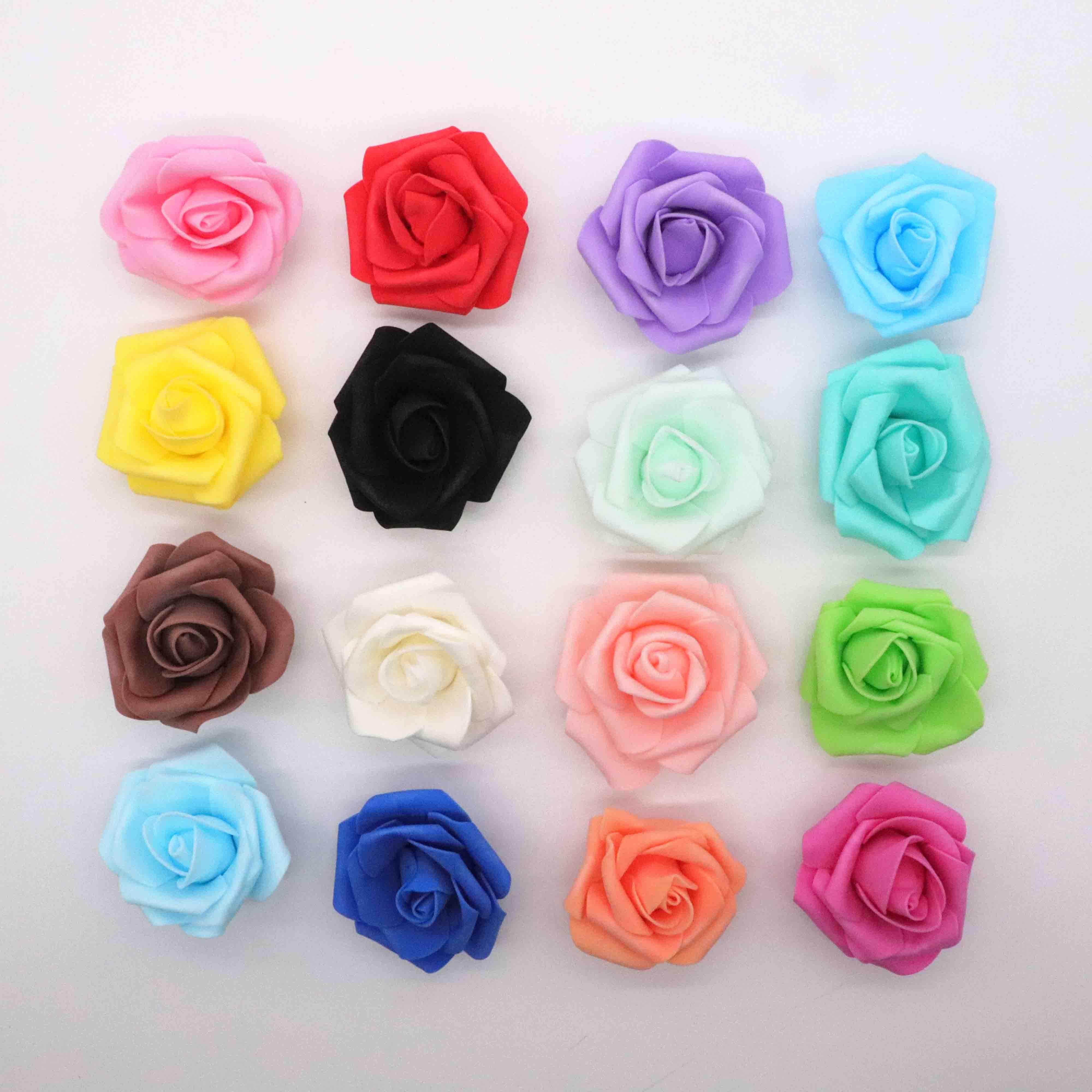 4 см 30 шт/партия Большой ПЭ пена Искусственный цветок розы голова дома Свадебные украшения DIY Скрапбукинг венок поддельная декоративная роза