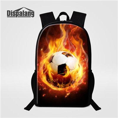 7708921a71 Bolas de Futebol Americano De Dispalang Padrão 16-polegada Sacos de Escola  Mochila Sacos de Viagem Mochila Para Crianças Crianças Mochila Mochila