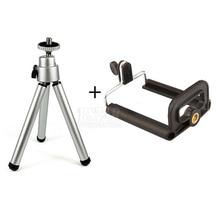 Штатив + клип стенд кронштейн держатель гору адаптер для gopro камеры цифровая камера автоспуска для смартфонов iphone samsung