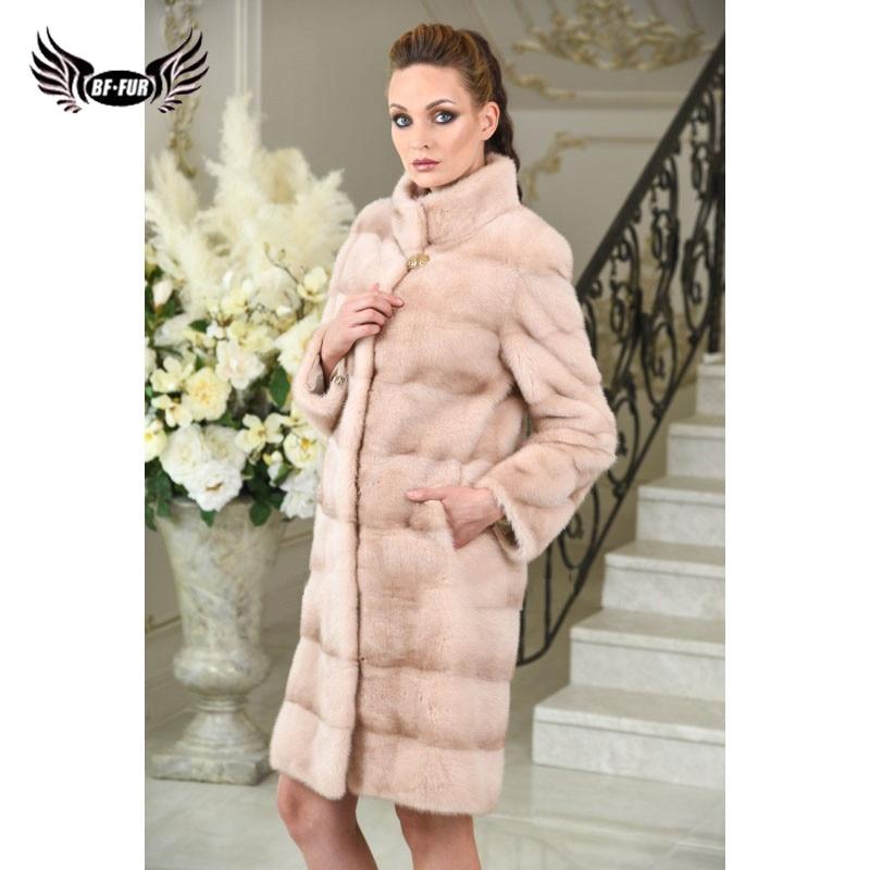 Più 2018 Per Modo Inverno Il Color Sottile Pieno Di Bffur Donne Splendido Reale  Cappotto Della Caldo Delle Formato Photo Le Qualità Naturale ... 85fc592efa2