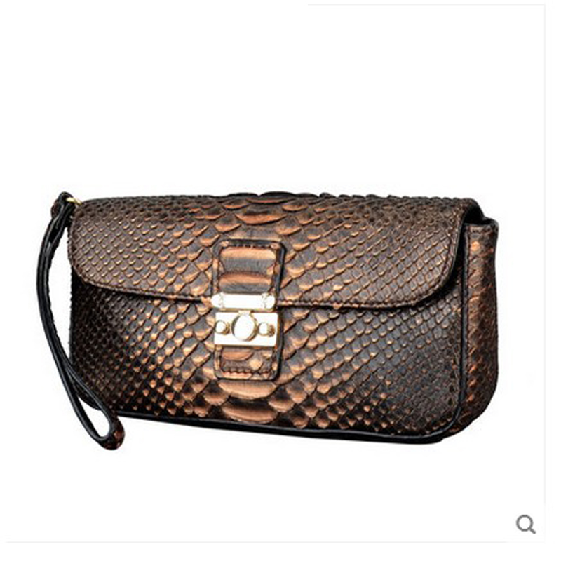 jialante Python skin women clutch bag lady's new women bag European and American snake leather handbag female purse gete new python leather women handbag lady real snake dinner women purse large capacity grab bag girl women cluth bag wallet